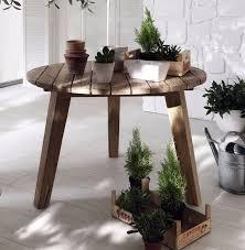 Ametis Jakarta Reclaimed Teak Round Outdoor Dining Table - Reclaimed teak dining table and chairs