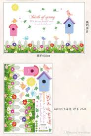 fence birdcage flowers birds wall decals for kids room nursery fence birdcage flowers birds wall decals for kids room nursery birds of spring wall stickers quote