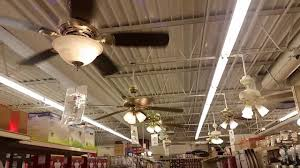 ceiling fan display in an ace hardware store