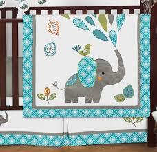 Jojo Crib Bedding Set Jojo Designs Turquoise Blue Gray And White Mod Elephant 9