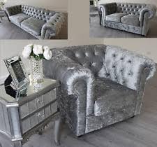 Chesterfield Velvet Sofa Silver Grey Velvet Sofa 1025theparty
