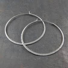 silver hoop earrings battered sterling silver large hoop earrings by otis jaxon silver
