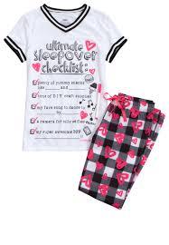 sleepover checklist pajama set original price 9 99 available