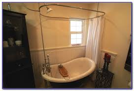 Claw Foot Tub Shower Curtains Clawfoot Tub Shower Curtain Rod Oil Rubbed Bronze Curtain Home