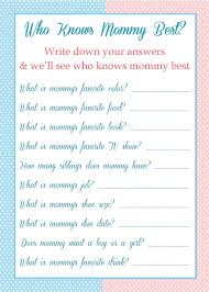who knows the best stunning free printable baby shower who knows the best