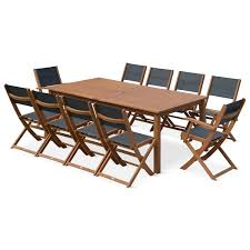 Table De Jardin 10 Personnes by Salon De Jardin En Bois Grande Table 200 250 300cm