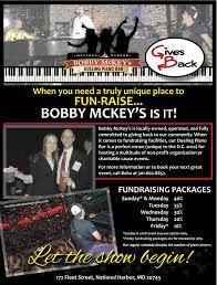 bobby mckey u0027s dueling piano bar national harbor dining