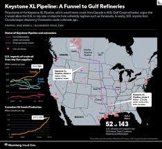 Keystone Map Keystone Xl Pipeline Map