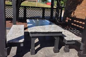 Concrete Table And Benches Concrete Picnic Table U0026 Benches Truecrete