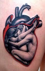 heart couple tattoo design for lovers in 2017 real photo