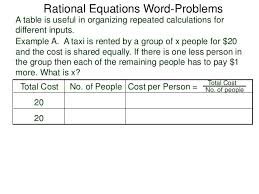 rational equations worksheet 2 5 rational equations word problems