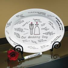 guest plate wedding guest book idea jules wedding ideas