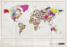 2007 World Map by Sony Bravia
