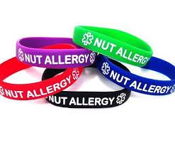 silicone wrist bracelet images Nut allergy silicone wristband bracelet multi pack jpg