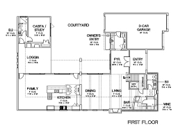 u shaped one story house plan with courtyard lrg aaa tikspor
