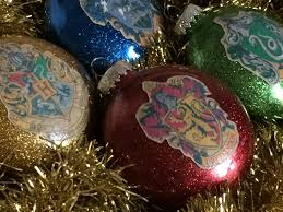 Christmas Glitter Ornaments Harry Potter Glitter Ornaments Chica And Jo