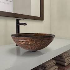 Nicole Miller Bathroom Accessories by Vigo Golden Greek Glass Vessel Bathroom Sink Amazon Com