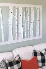 Inexpensive Wall Art by The Craft Patch Large Inexpensive Diy Aspen Tree Wall Art