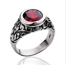 ring design men tiger silver ring ruby ring boys carve patterns or designs on