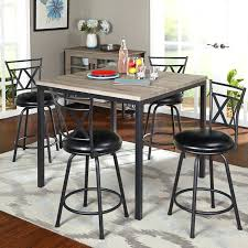 counter high glass dining table top height set black square
