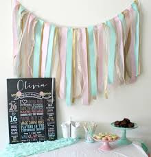 Garland by Ribbon Garland High Chair Banner Tutorial My Plot Of Sunshine
