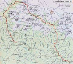 Maps Nepal by Nepal Trekking Maps Easy To Download And Print