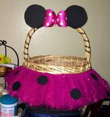 personalized mickey mouse easter basket minnie mouse basket custom color or
