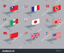 German Flag In Ww2 World War Two Flags China France Stock Vector 3067506 Shutterstock