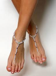 barefoot sandals for wedding beaded barefoot sandals something blue wedding sandals wedding