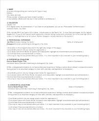 Sample Project List For Resume by Resume Chronological Format Chronological Resume Template Sample