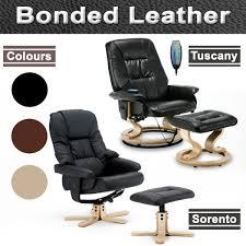 Leather Electric Recliner Chair Napoli Brown Leather Swivel Recliner Electric Massage Chair