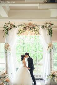 wedding arches chuppa wedding arch decorated with deco mesh and flowers