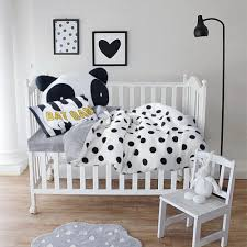 3pcs baby bedding set cotton bed linens plaid bedspread bedding