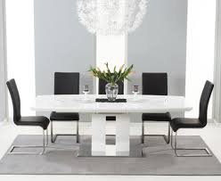 modern white gloss dining table store black gloss furniture