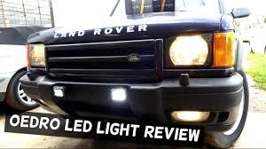Led Fog Light Bar by Oedro Led Fog Light Bar Review And Installation On Land Rover
