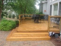 basic deck design decorating wood deck design ideas for low deck