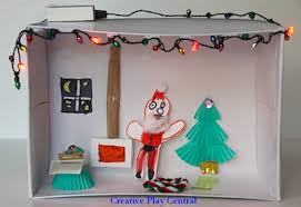 santa s house diorama things to make and do crafts and