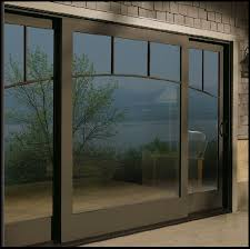 Narroline Gliding Patio Doors Example Of A 3 Panel Center Fixed Andersen Gliding Patio Door In A