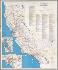 Blank Map California by State Highway Map California 1965 David Rumsey Historical Map