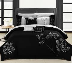 amazon com chic home 8 piece embroidery comforter set queen