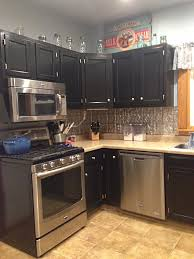 Finishing Kitchen Cabinets Kitchen Cabinets In Black Gel Stain General Finishes Design Center