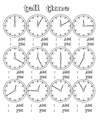how to tell time clock printables for kids kids learning
