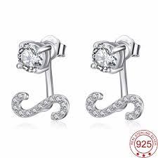 cubic zirconia stud earrings yfn genuine 925 sterling silver cubic zirconia stud earrings open