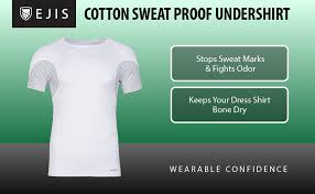ejis sweat proof undershirts crew neck slim fit men u0027s cotton odor