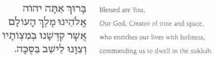 prayers for sukkot sukkot