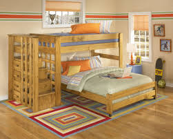 Wooden Bunk Bed With Stairs Contemporary Bedroom With Loft Beds With Stairs Mahogany