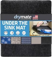 kitchen sink cabinet mats drymate premium the sink mat 24 x 29 cabinet protection mat shelf liner absorbent waterproof slip resistant machine washable durable
