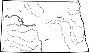 Blank Civil War Map by Major Rivers Of North Dakota Map North Dakota Studies
