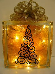 Decorative Glass Block Lights Scrappin Dhilly Christmas Glass Block