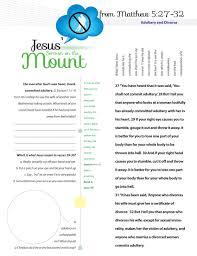 worksheet to teach jesus sermon on the mount from matthew chapter